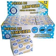 Alanos - Piedra de limpieza de espuma de vidrio blanco de 10x 7x 4 cm.  caja con 12 unidades