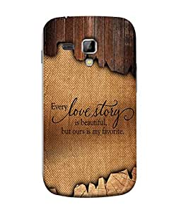 PrintVisa Designer Back Case Cover for Samsung Galaxy S Duos S7562 (Love Lovely Attitude Men Man Manly)
