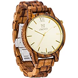 Natural Zebrawood Wrist Wooden Watch for men