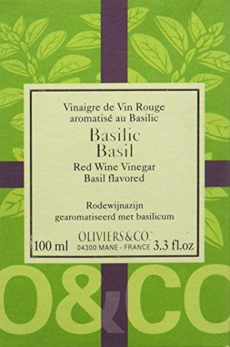 Oliviers & Co. Vinaigre de Vin Aromatisé au Basilic 100 ml