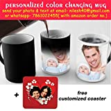 Insane Vogue Color Changing Customized/Personalized With Photo Coffee Mug With Coaster, Magic Mug With Coaster