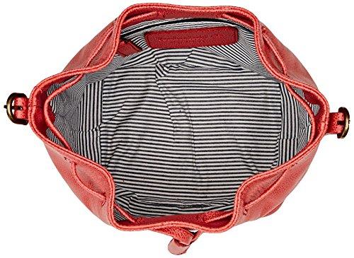Timberland Tb0m5391, Borsa a Secchiello Donna, 14x22x20 cm (W x H x L) Rosso (Spiced Coral)