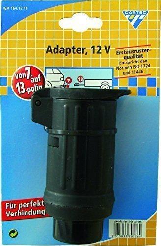 Adapter 12 V von 7 auf 13 polig für Anhänger 13 polig auf Auto 7 polig
