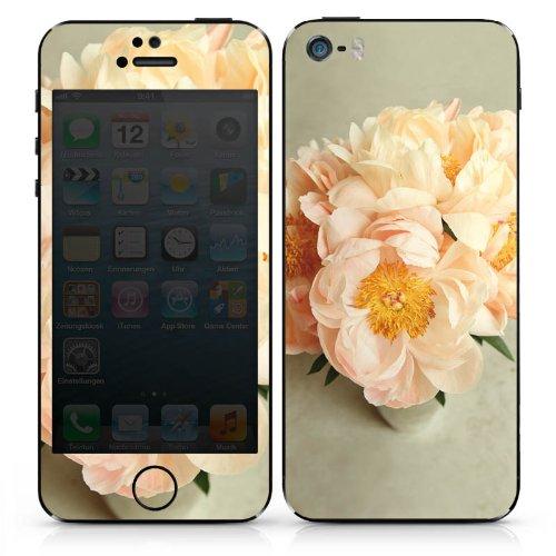 Apple iPhone 5s Case Skin Sticker aus Vinyl-Folie Aufkleber Blumen Gelb Blüte DesignSkins® glänzend