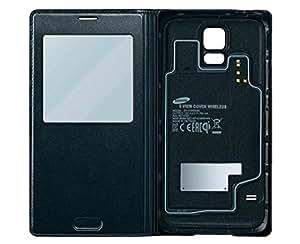 Samsung EP-VG900BBEGWW S View Case mit kabellose induktive Aufladen für Samsung Galaxy S5 schwarz