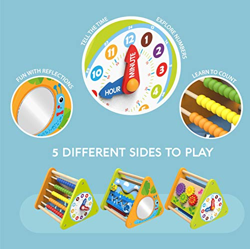 The Wooden Toy Factory - 5 in 1 Activity Triangle - No Assembly Required