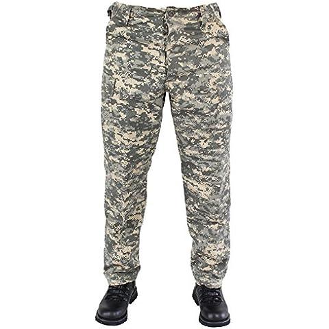 noorsk - Pantalón con bolsillo, diseño del ejército estadounidense, color - ACU-Camo, tamaño L