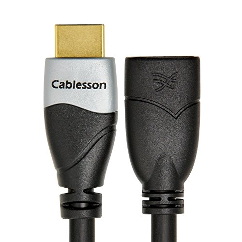 Cablesson Ivuna 0.5m High Speed HDMI Verlängerungskabel (HDMI Typ A, HDMI 2.1/2.0b/2.0a/2.0/1.4) - 4K, 3D, UHD, ARC, Full HD, Ultra HD, 2160p, HDR - für PS4, Xbox One, LCD, LED, UHD, 4k Fernsehern - schwarz Monster Hdmi-adapter