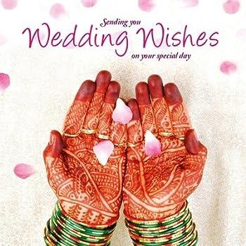 Best wishes wedding day card indian amazon office products asian wedding card wedding wishes greeting card m4hsunfo
