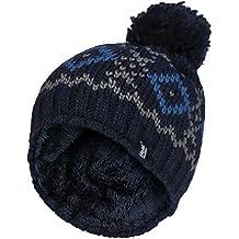 HEAT HOLDERS - Hombre Invierno Termico Gorro con pompón con Forro Polar a1d042aa5e9