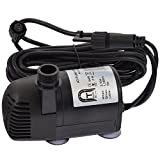 Agora-Tec® Ersatzpumpe für Agora-Tec Solar Teichpumpen-Set AT-20W-BL und AT-20W-BLH inkl. zusätzliche Buchse für LED Beleuchtung
