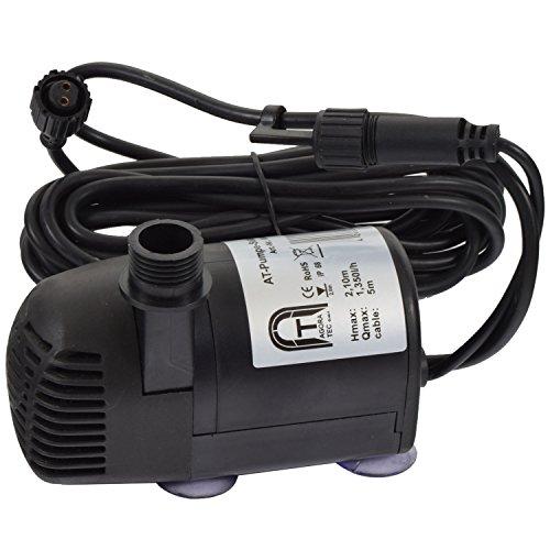 Preisvergleich Produktbild Agora-Tec® Ersatzpumpe für Agora-Tec Solar Teichpumpen-Set AT-20W-BL und AT-20W-BLH inkl. zusätzliche Buchse für LED Beleuchtung