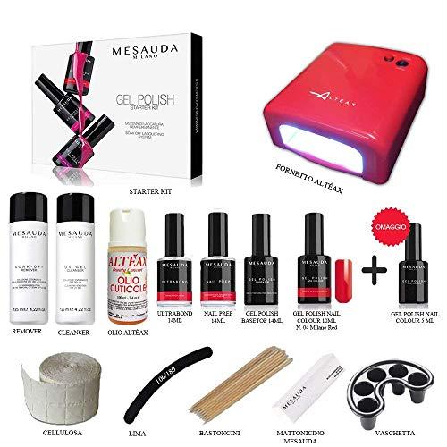 Mesauda starter kit gel polish 14 ml smalto semipermanente unghie + fornetto altÉax®+ accessori