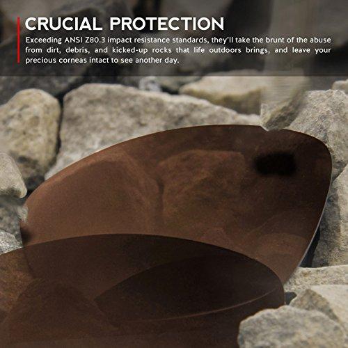 Verres de rechange pour Oakley Fuel Cell — Plusieurs options Bronze - Polarisés