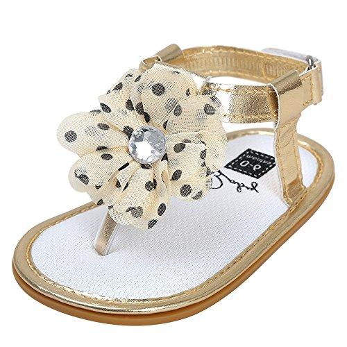 Scarpe per bambini Koly Sandali di perle del fiore del bambino Principessa Principessa Principianti Scarpe da ragazzi Khaki