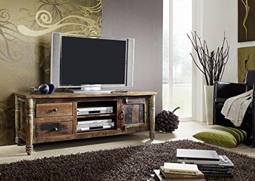 Meuble TV - Bois massif recyclé laqué (Multicolore) - Inspiration Ethnique - FABLE #10