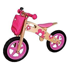 Bino 82707 – Bicicletta, Rosa, Legno