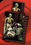 Wende Bettwäsche Star Wars C-3PO Baumwolle 135x200 R2-D2 Reissverschluss BB-8