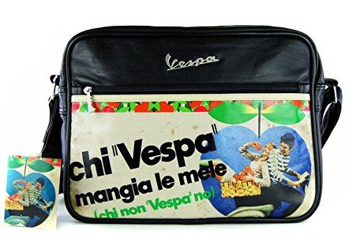 Borsa a tracolla Vespa in ecopelle 35x25z11 cm. VPSB61 Nero