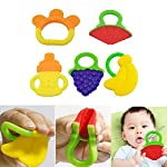 Baby Teethers, YIGO 5pcs Baby Fruit Toddler Teething Toys Gums, Silicone FDA Approved BPA Free Baby Teether Toys