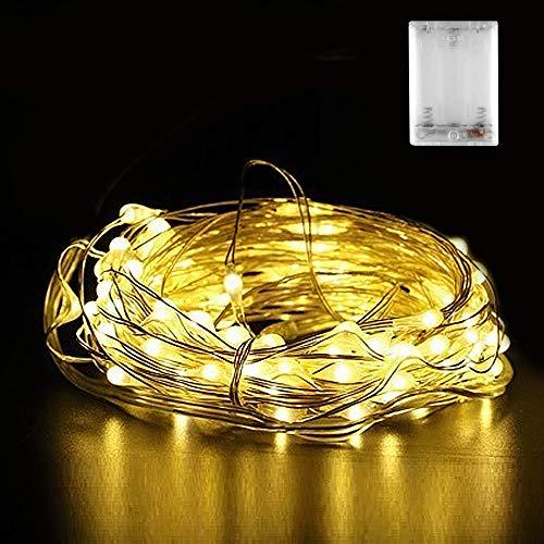 Micro LED Lichterkette Batterie, Nasharia 30 LED 3m Micro LED Lichterketten für Hochzeit, Party, Weihnachten, Außen/Innen Dekoration, IP65 Wasserdich, (Warmweiß)