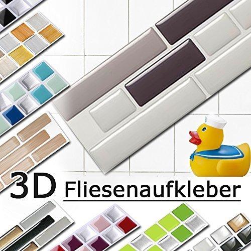 Piastrelle adesive 3d in gel effetto mosaico di alta for Mattonelle in vinile