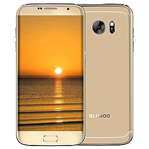 Bluboo Edge Smartphone 4G FDD-LTE Phone 5.5inch HD AUO OGS Screen 1280*720P MTK6737 Quad-core 1.3GHz Processor 2GB RAM 16GB ROM Android 6.0 OS 13.0MP+8.0MP Camera Fingerprint Identification (Gold)