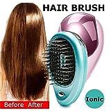 ZXIAOY Tragbare Elektrische Ionen Haarbürste Zum Mitnehmen Mini Ion Haarbürste Kamm Massage Klein,Pink