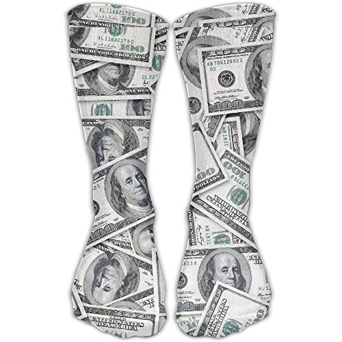 Seamless Us Dollars Money Comfortable Novelty High Athletic Sock Outdoor Gift (Fahrer Mutterschaft)