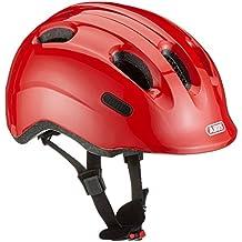 ABUS Niños Smiley 2.0–Casco para bicicleta, infantil, color sparkling red, tamaño 45-50 cm