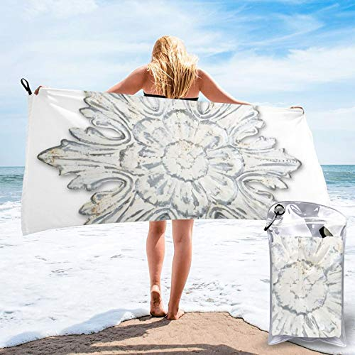 bikini bag Black and White Classic Flowers Floral Towels 3 Bath Swimming Pool Yoga Pilates Picnic Blanket Quick Dry Beach Towels 27.5