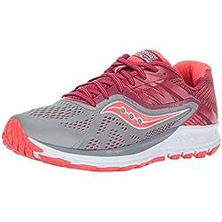 Saucony Ride 10, Zapatillas de Running para Mujer, (Grey/Berry), 38.5 EU