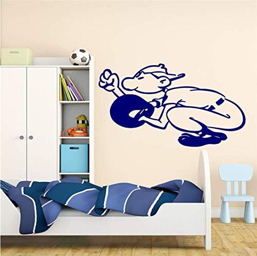 Baseball Catcher Ball Vinyl Aufkleber Wandaufkleber Sport Boy Schlafzimmer American Game Wandtattoo Für Teens Room Removable Decor 57x89cm (Baseball-geschenke Für Teen Boys)