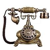 Harz-Knopfdrehknopf-Telefondekoration des kreativen Retro- Telefons europäische, Festes Haus des Weinleseklassikers reparierte Haus- und Bürodekoration (Stil : AA)