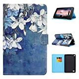 Kindle Fire 7 2015 Hülle, Asnlove Book Style PU Leder Tasche Schutzhülle Schale Flip Cover E-reader Shell Case Cover Ultra Lightweight mit Standfunktion für Amazon Kindle Fire 7.0 Zoll Tablet (Orchidee)