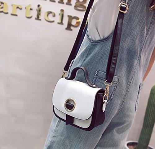 QPALZM 2017 Frauen Crossbody Taschen PU Leder Multi-Pocket Mit Verstellbaren St White