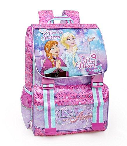 Disney frozen 57212 zaino da scuola, estensibile, poliestere, multicolore