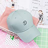 zlhcich Hut weiblich lässig Wilde Straße Stickerei Sommer Visier Baseball Cap Matcha grün einstellbar