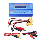 RC Charger, 3Types 80W 1-6S Digital Balance Charger Discharger Power Supply for Lithium