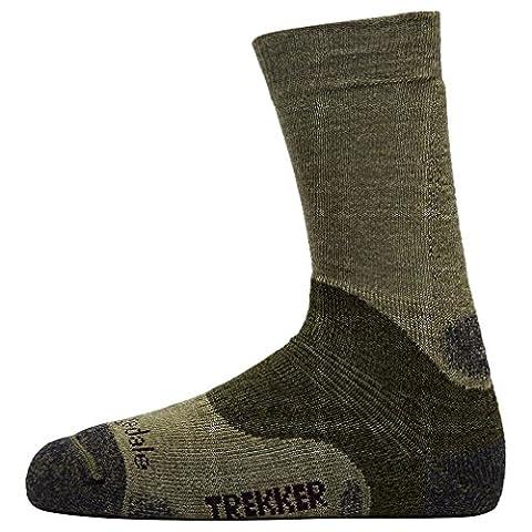 Bridgedale Men's Woolfusion Trekker Socks, Brown, S