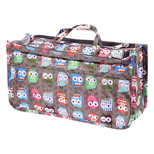 Frcolor Oxford Travel Makeup Bag Multifonction Cosmétique Train Box Artist Organisateur Case (Owl Pattern)