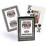 WSOP Plastikkarten Jumbo-Index, Farbe:schwarz
