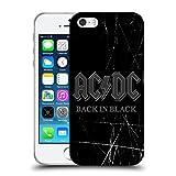 Ufficiale AC/DC ACDC Back In Black Logo Cover Morbida In Gel Per Apple iPhone 5 / 5s / SE