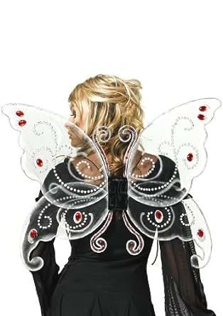 Leg Avenue - Schwarze Schmetterlingsflügel - One Size - Schwarz - 2088