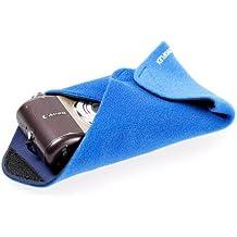 Novoflex BLUE-WRAP Stretch-Einschlagtuch (Kamera-Schutzhülle) - Gr. S (20 x 20 cm) - z.B. für eine kleine Digitalkamera, ein Smartphone oder einen Kompaktblitz.