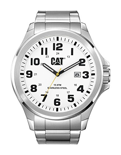CAT operatore-Orologio da uomo al quarzo con Display analogico e cinturino in acciaio INOX color argento PU.141,11.211