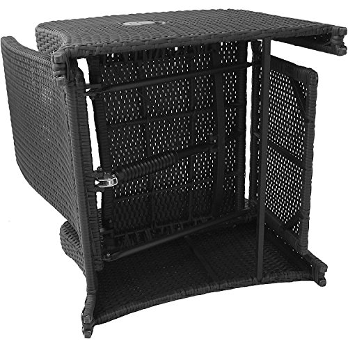 Wohaga® Poly-Rattan Sessel Gartensessel Rattansessel Relaxsessel Loungesessel Fernsehsessel - 4