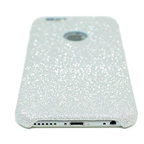 FINOO | iPhone 6 / 6S Plus Glitzer Handy-hülle | Glänzende Bling Bling TPU Bumper Case | Weiche Soft Diamond Schutzhülle | Rosa Rosa
