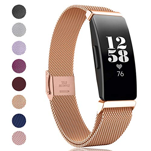 SPGUARD kompatibel mit Fitbit Inspire HR Armband/Fitbit Inspire Armband,Edelstahl Ersatzarmband für Fitbit Inspire HR/Fitbit Inspire