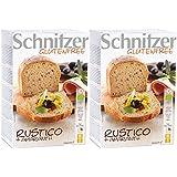 Schnitzer Rustico mit Amaranth  -Glutenfrei- (2x250g) 500g Bio Brot, 2er Pack (2 x 500 g)